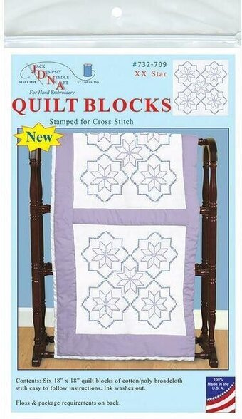 732-709 XX Star 18in Quilt Squares