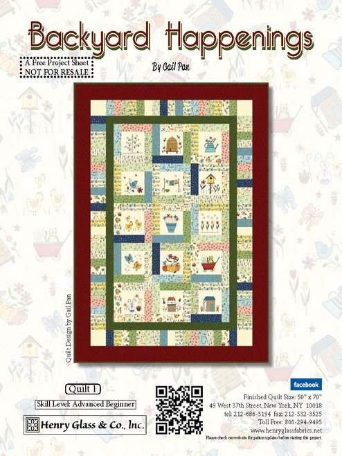 Backyard Happenings Kit(free pattern)