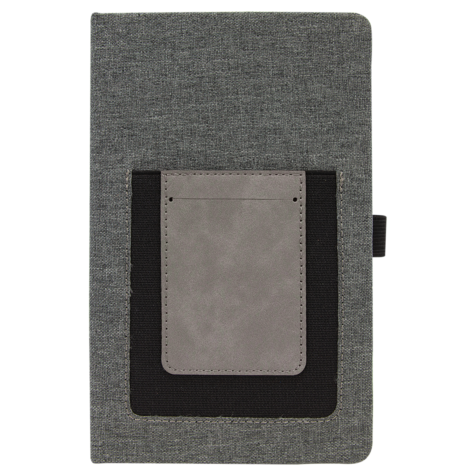 Journal w/cell phone and card slot gray/gray