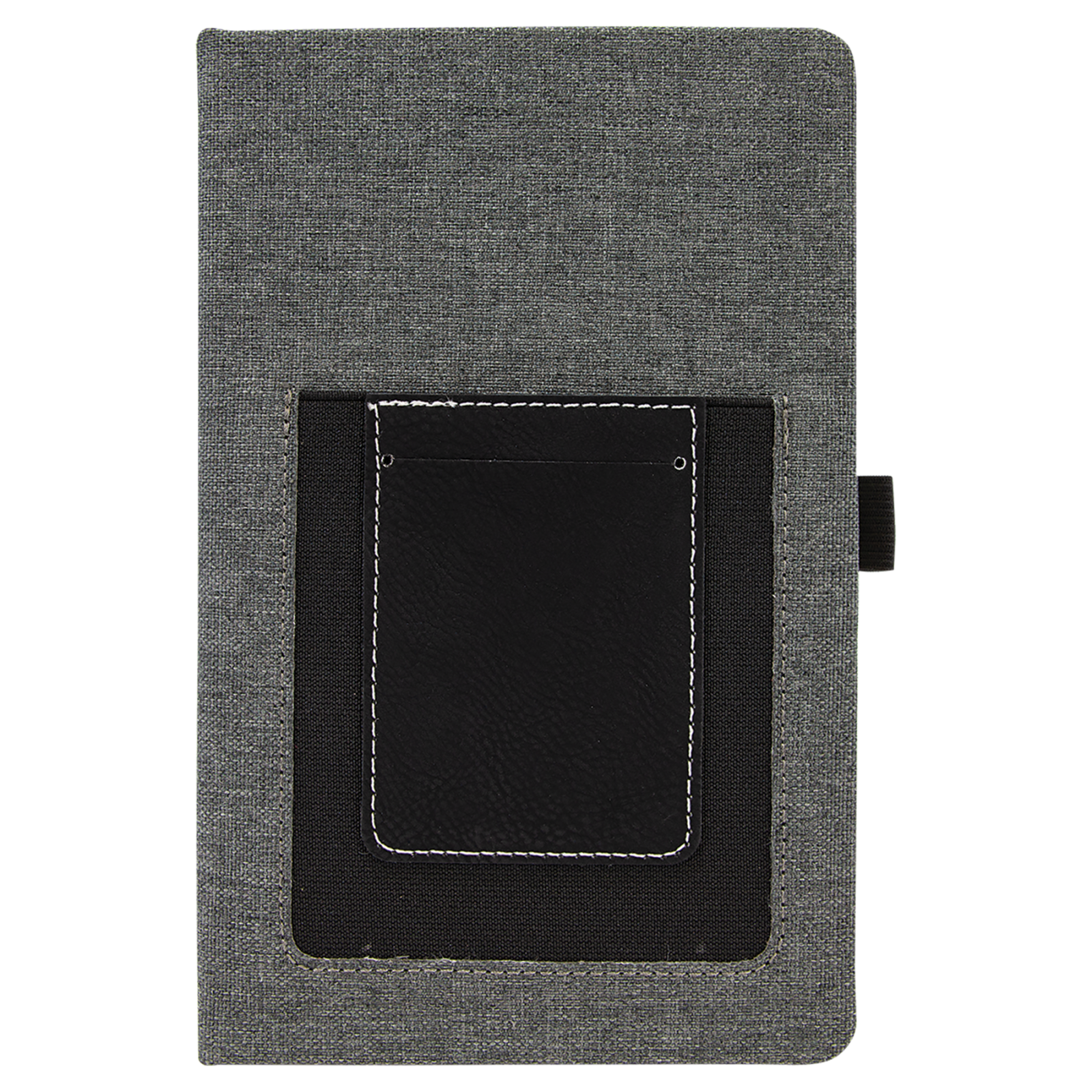 Journal w/cell phone and card slot BLACK/SILVER