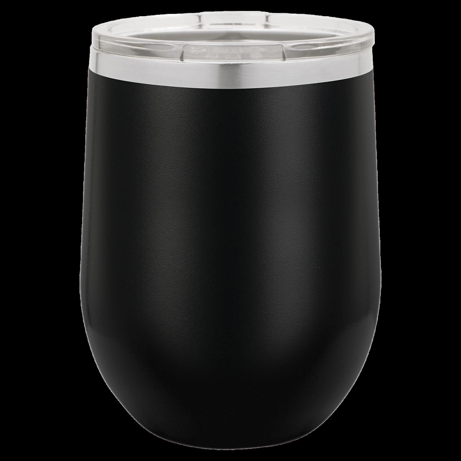 12 oz Stemless wine cup BLACK