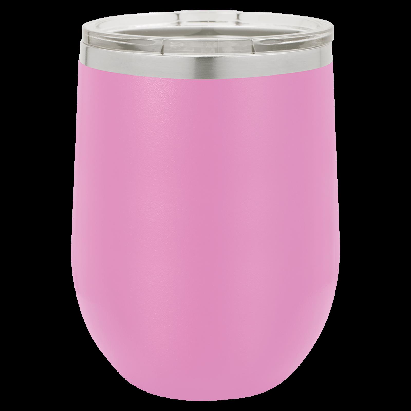 12 oz Stemless Wine cups LIGHT PURPLE