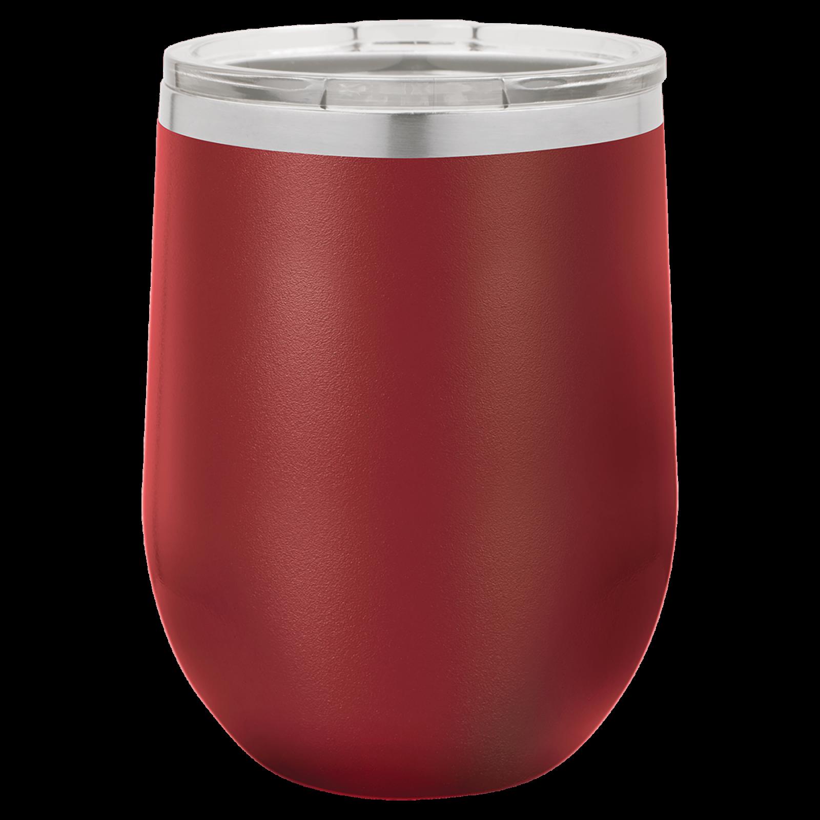 12 oz stemless wine cup MAROON