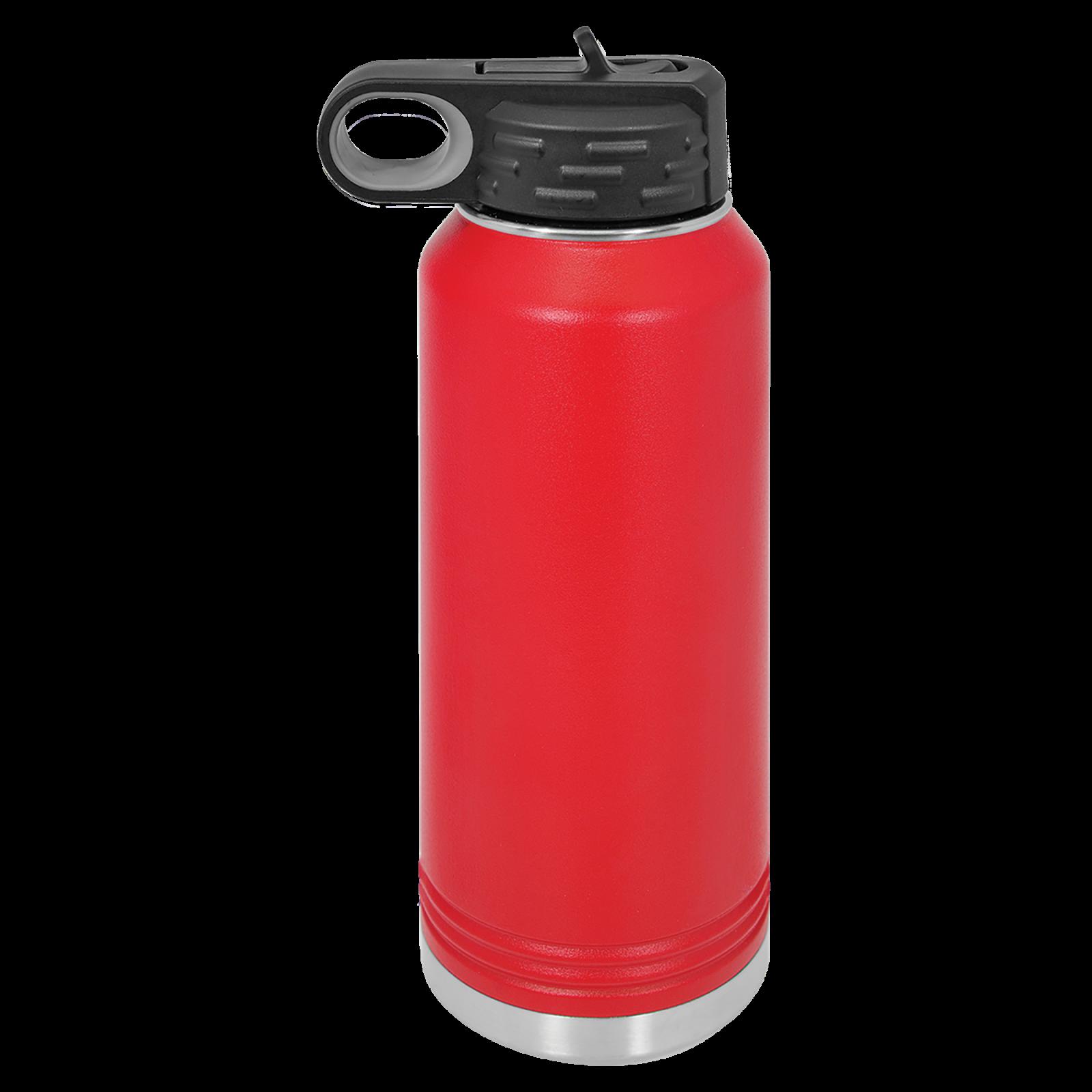 32 oz Water Bottle RED