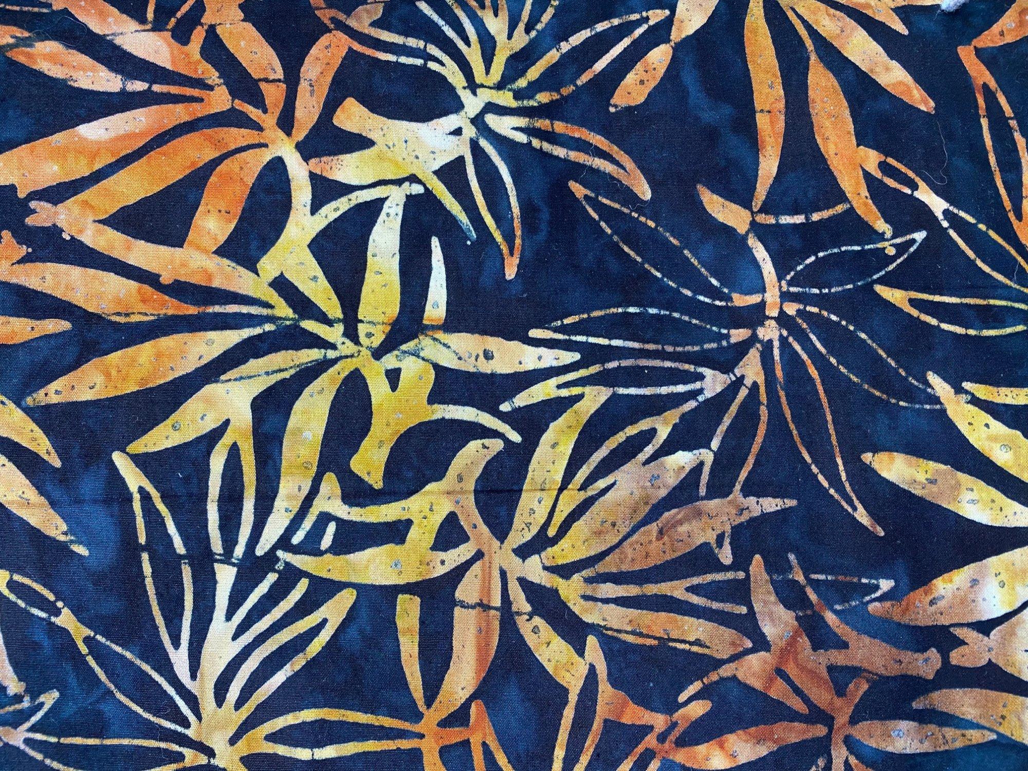 Komo Batik black/orange flower