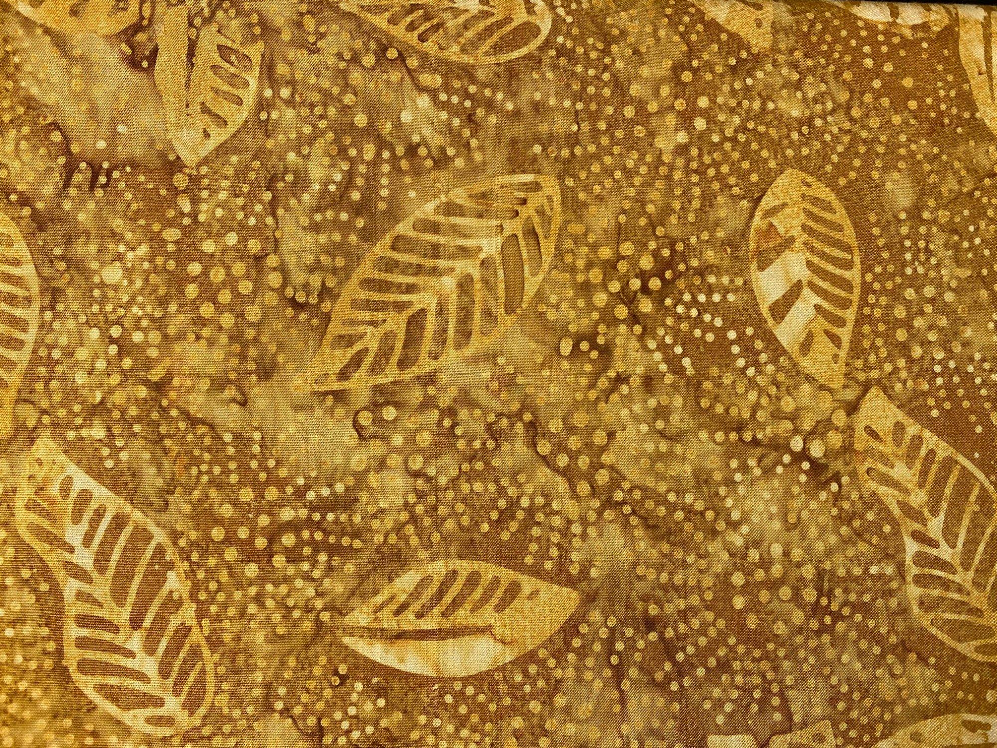 Komo batik yellow/brown flora