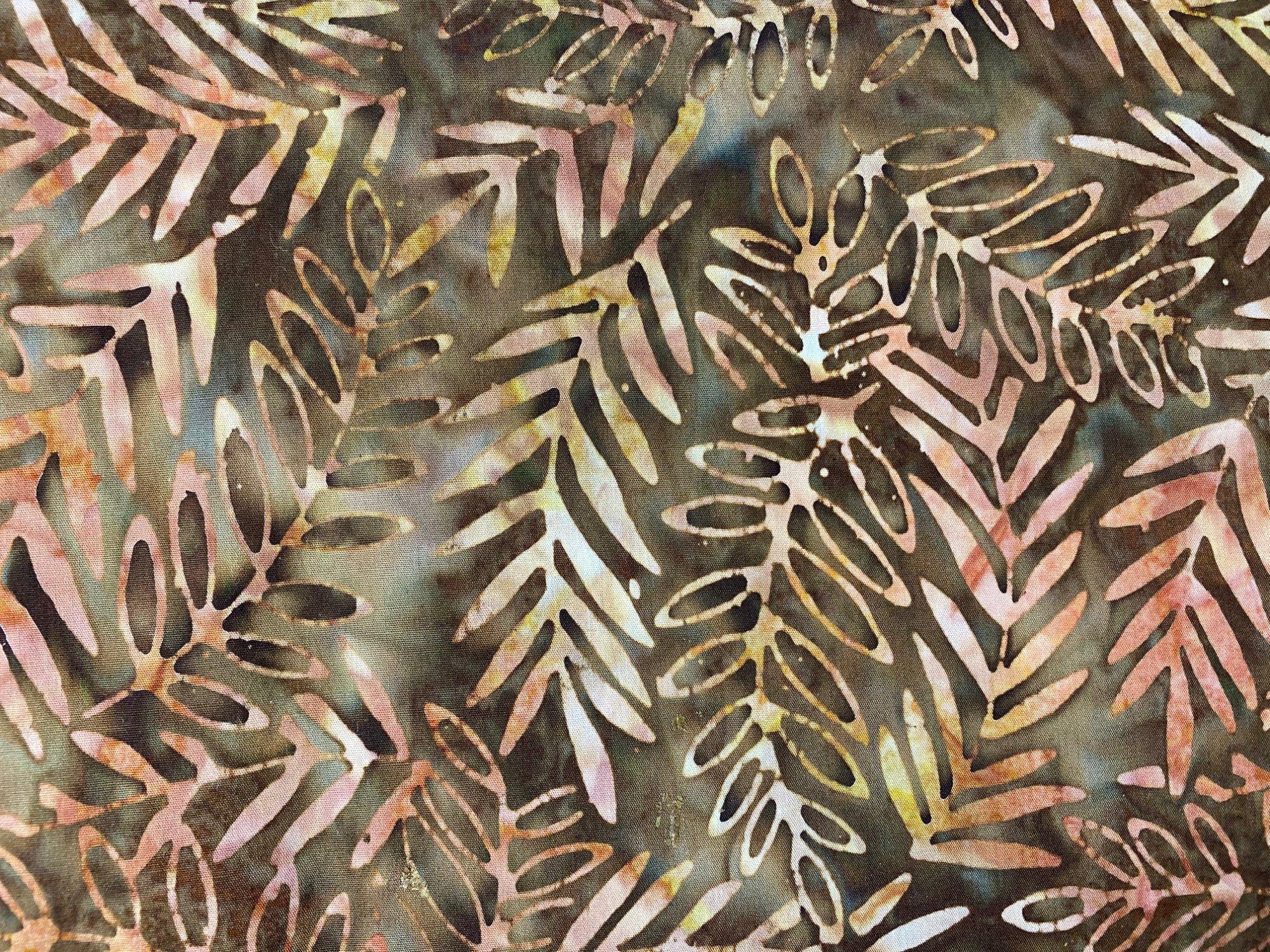 Komo Batik brownkhaki flora