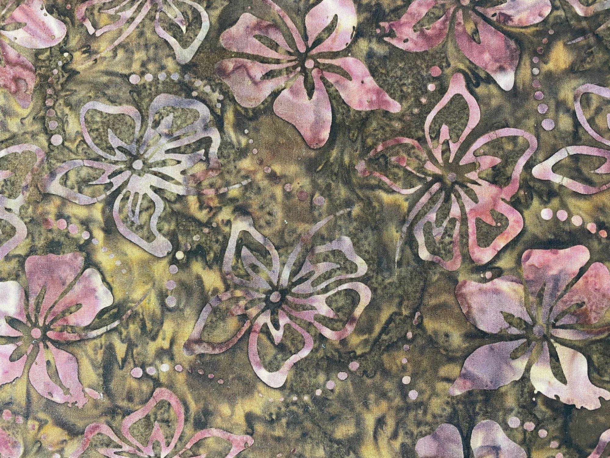 Komo Batik Brown/pink flora