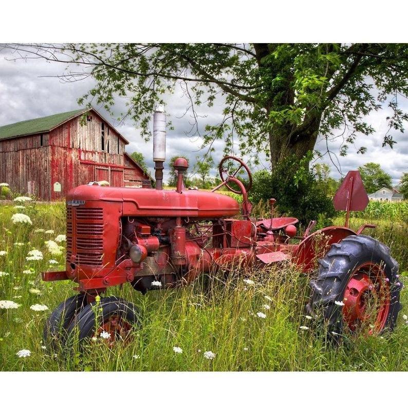 Digitally Printed Tractor Barn Panel