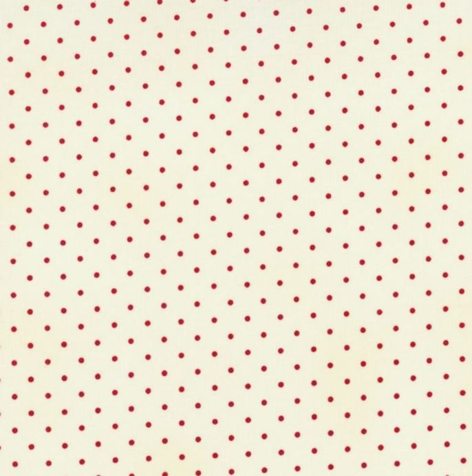 RJR 0016 home essentials fabric cream/red dots