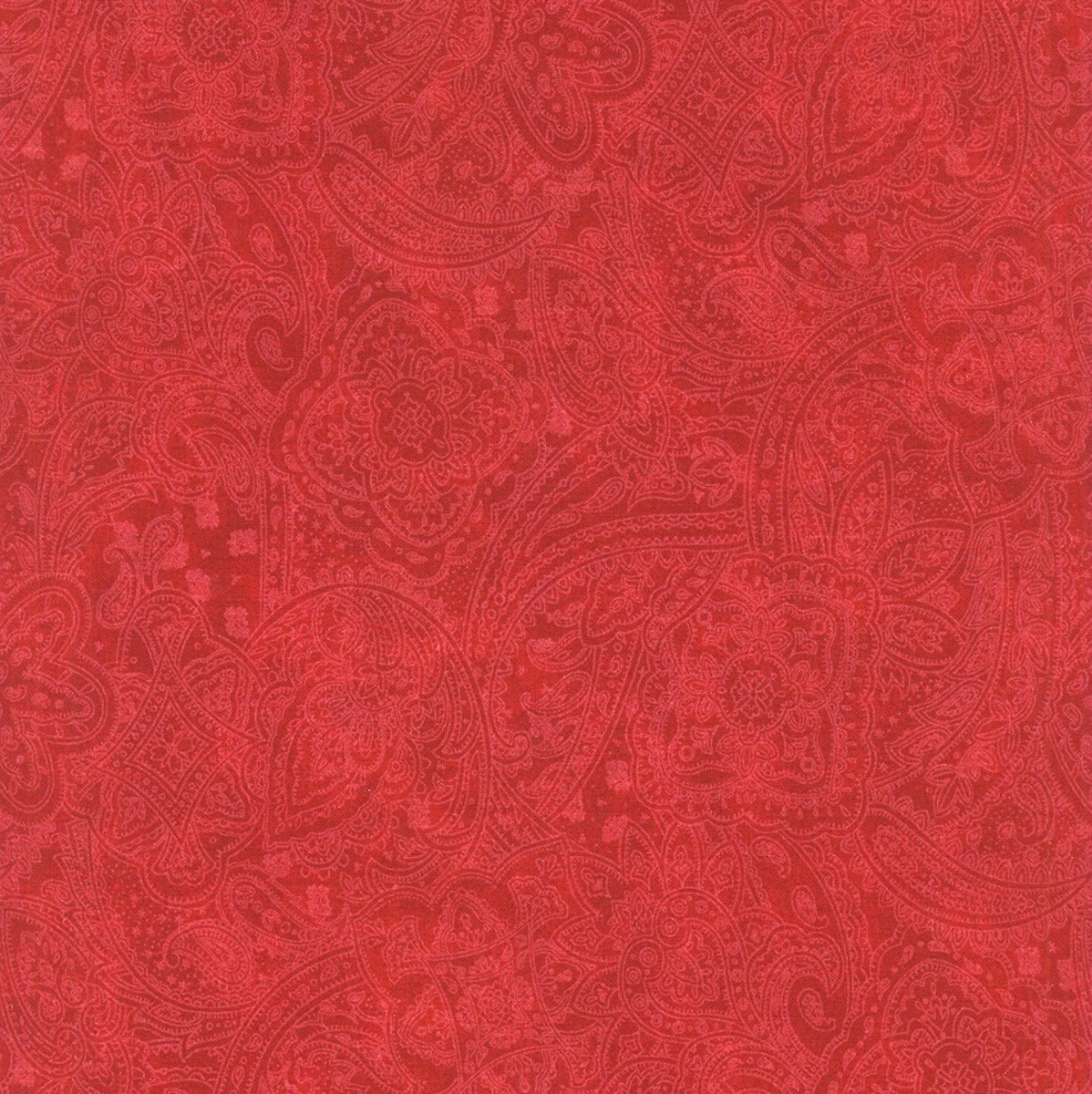 CHOICE FABRICS 108 INCH WIDE QUILT BACKING ANTIQUE PAISLEY SCARLET