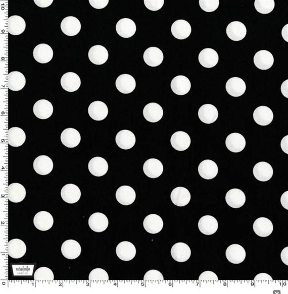 QUARTER DOT - Black with Large White Dot - CX3744-Blac-D
