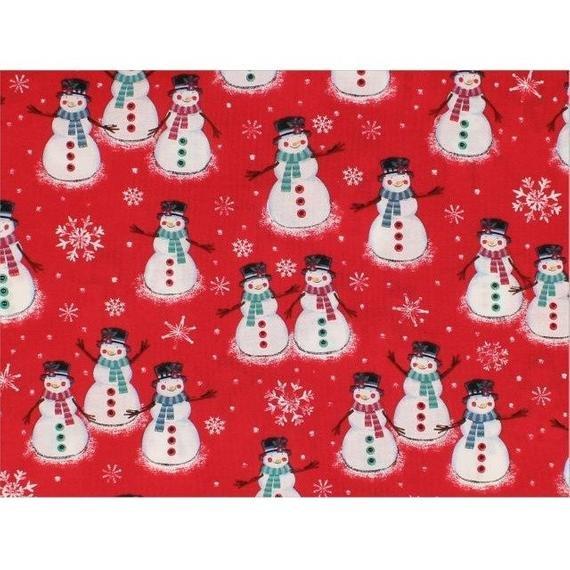 Choice Fabrics - Merry Christmas Basic Red Snowman (BD-49805-A01)