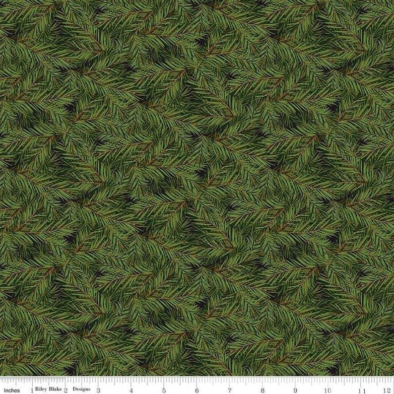 Christmas Memories Dark Green pine C8697