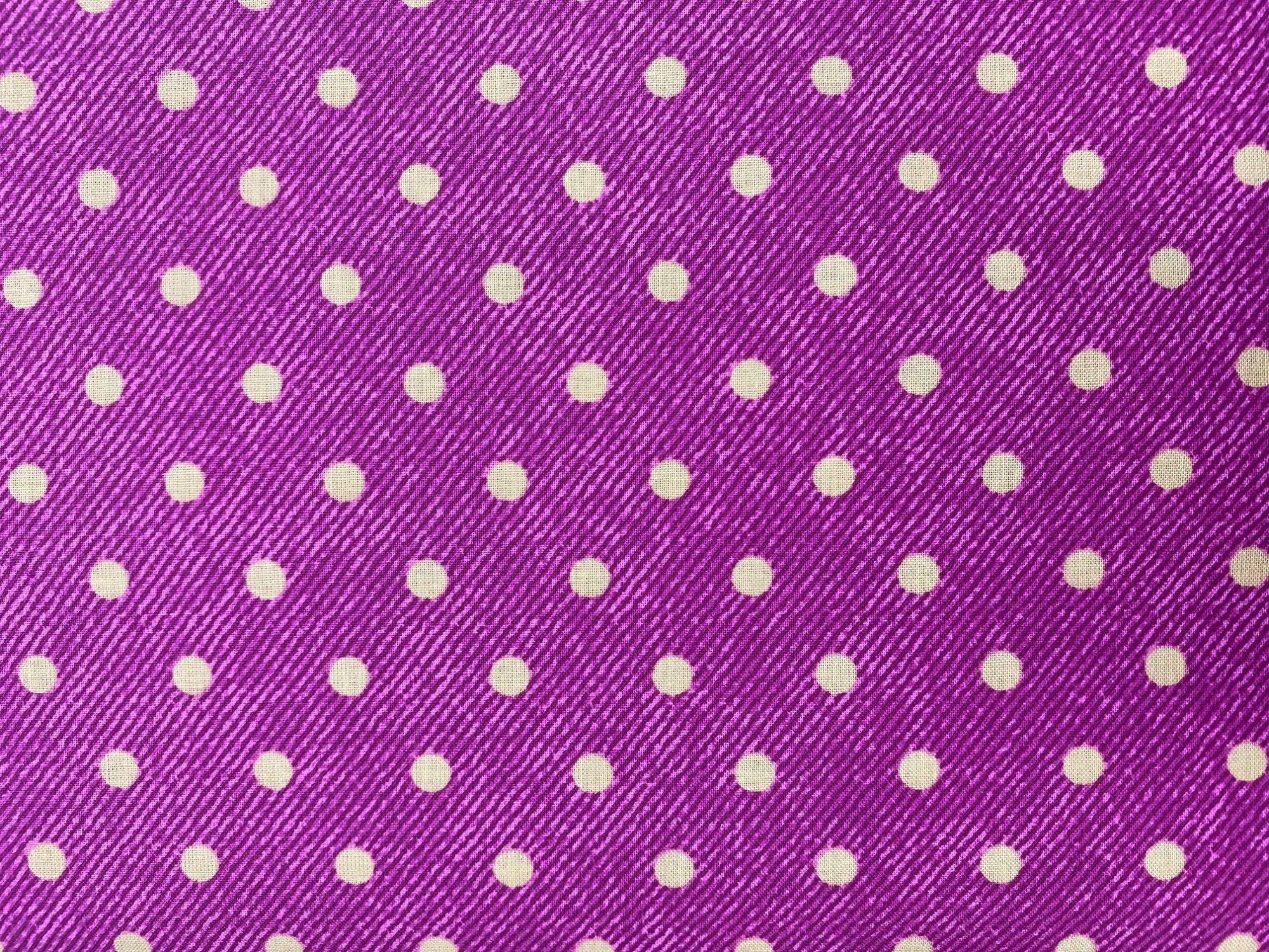 Cranston Prints purple/gold dots