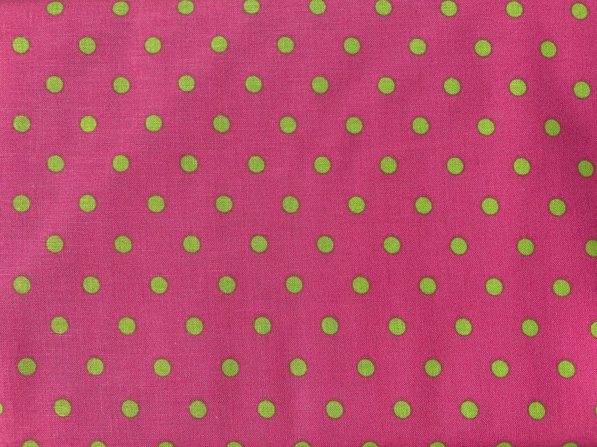 Cranston prints pink/green dot zd-53954-002