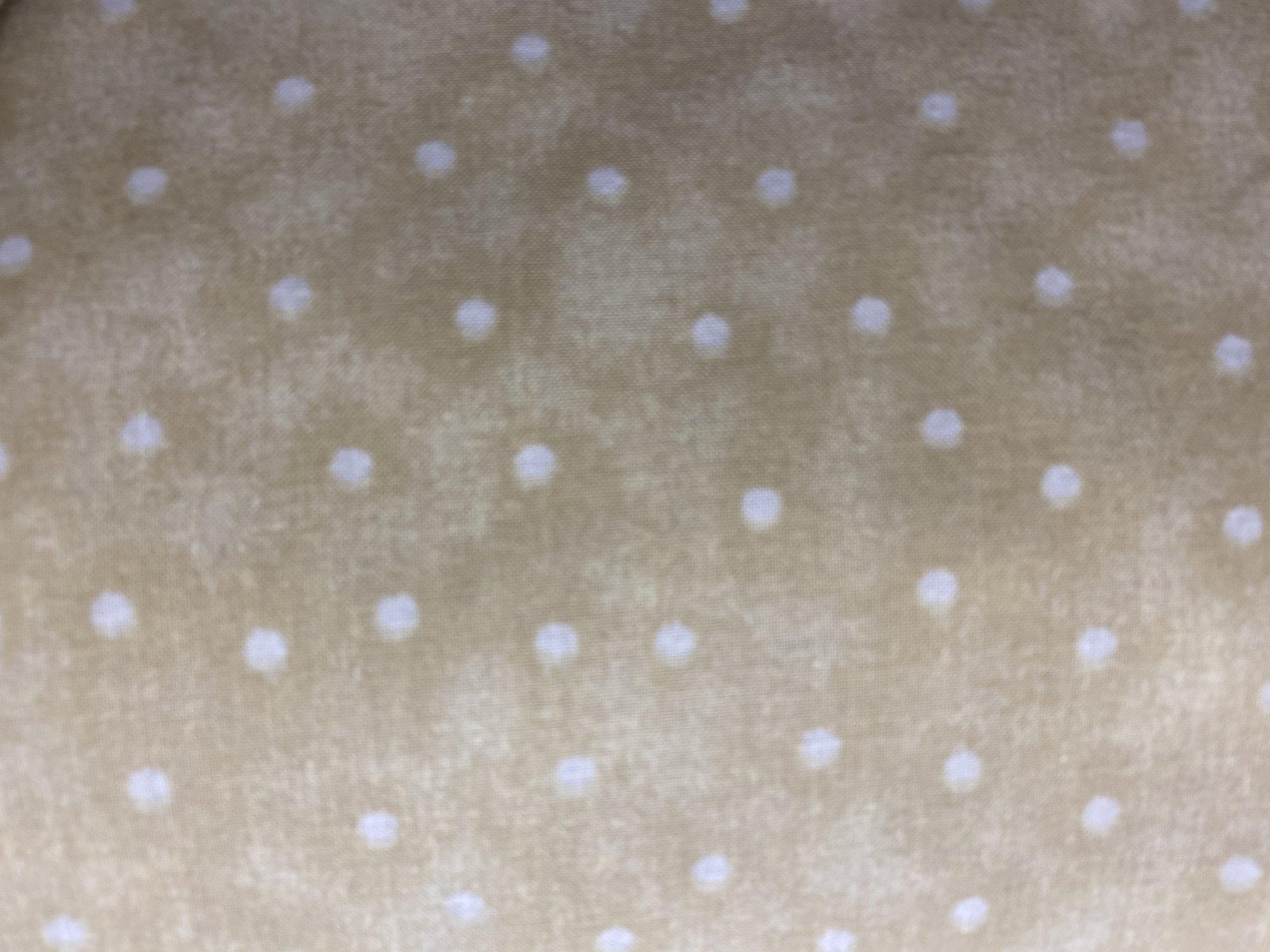 choice fabric 108 backing CD-49809-a15 tan dot