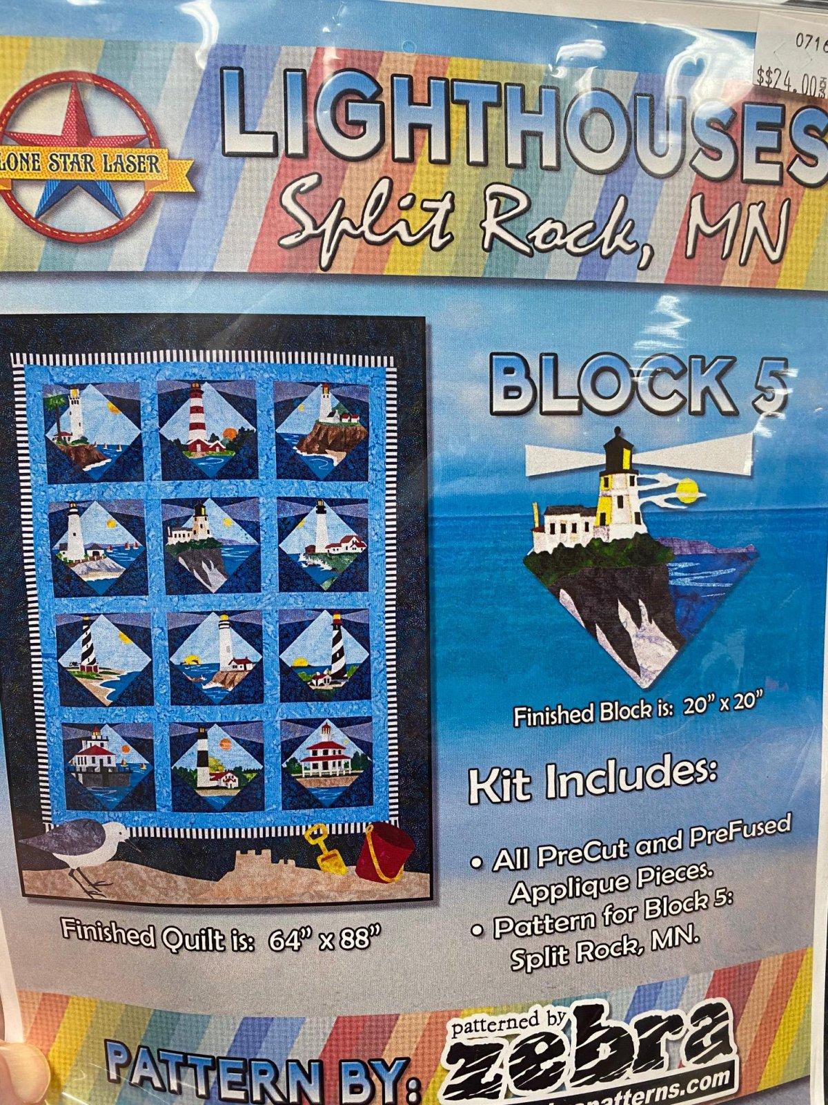 Lt House Split Rock MI, block 5