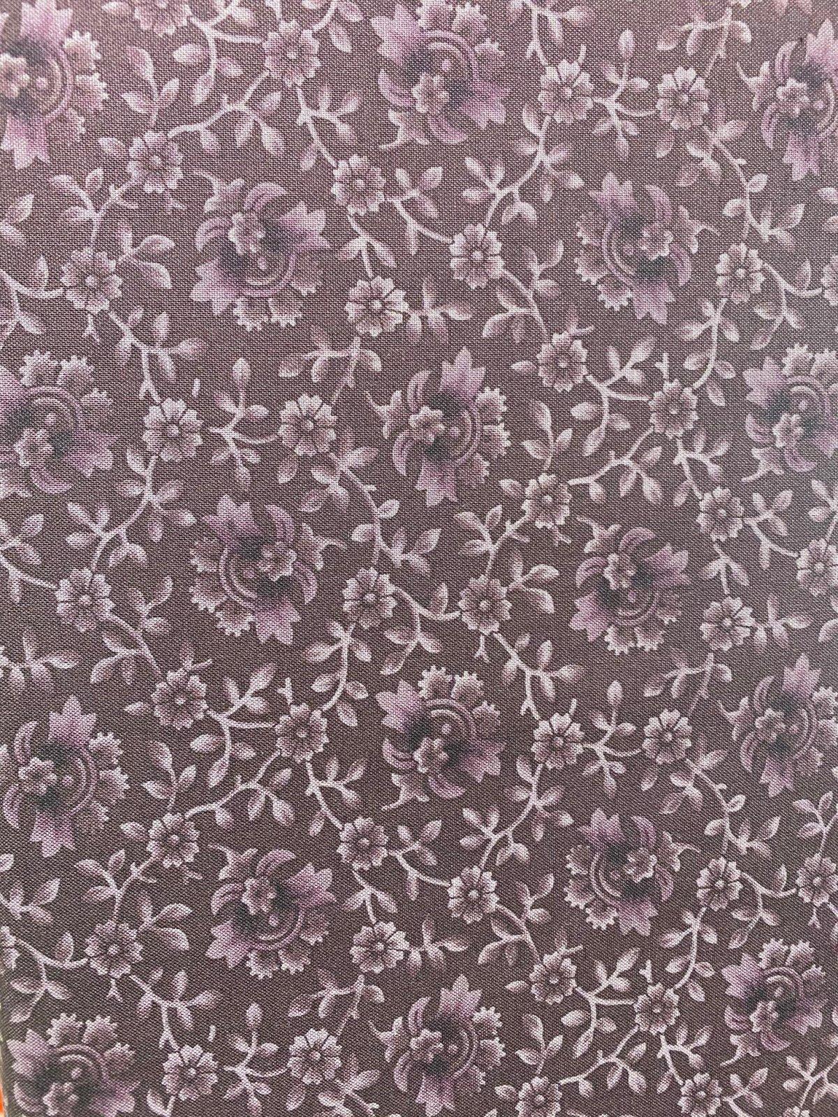 Marcus Antique Cotton Calicos dark purple floral R17-5233-0185