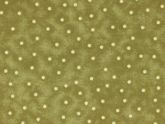 CD-49809-A04, 108 EXTRA WIDE QUILT 108 BACKING, BLENDER DOTS OLIVE 100% COTTON, BTY