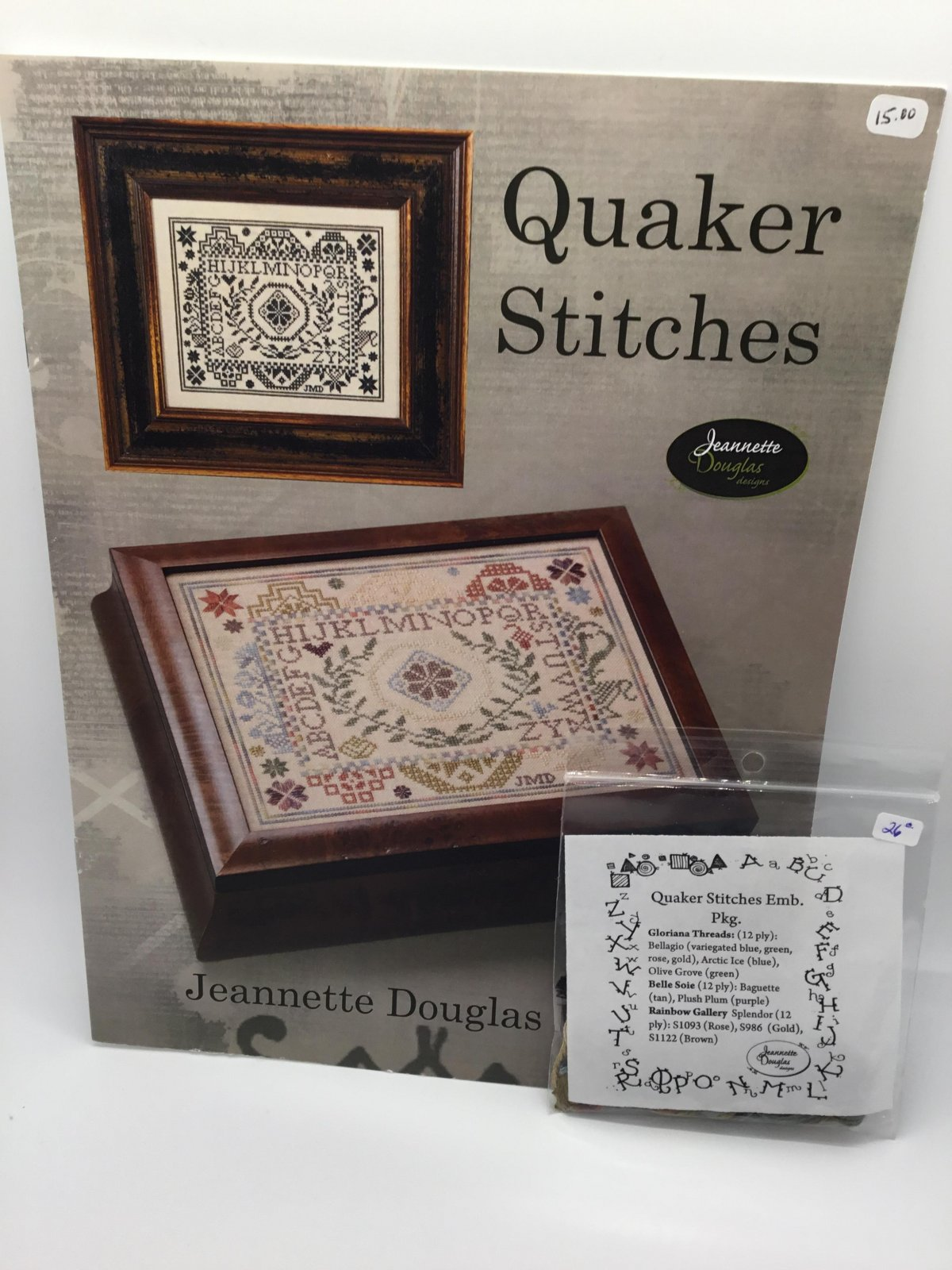 Quaker Stitches with Emb. Package