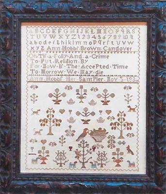 Antique Spring Sampler: Ann Hobbs 1834