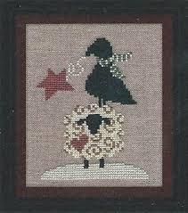 Winter Sheep, Star & Crow