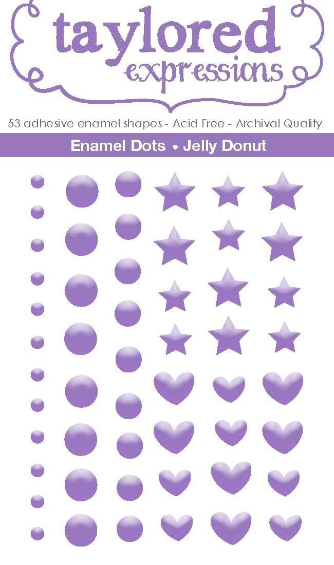 Taylored Expressions-Enamel Dots: Jelly Donut