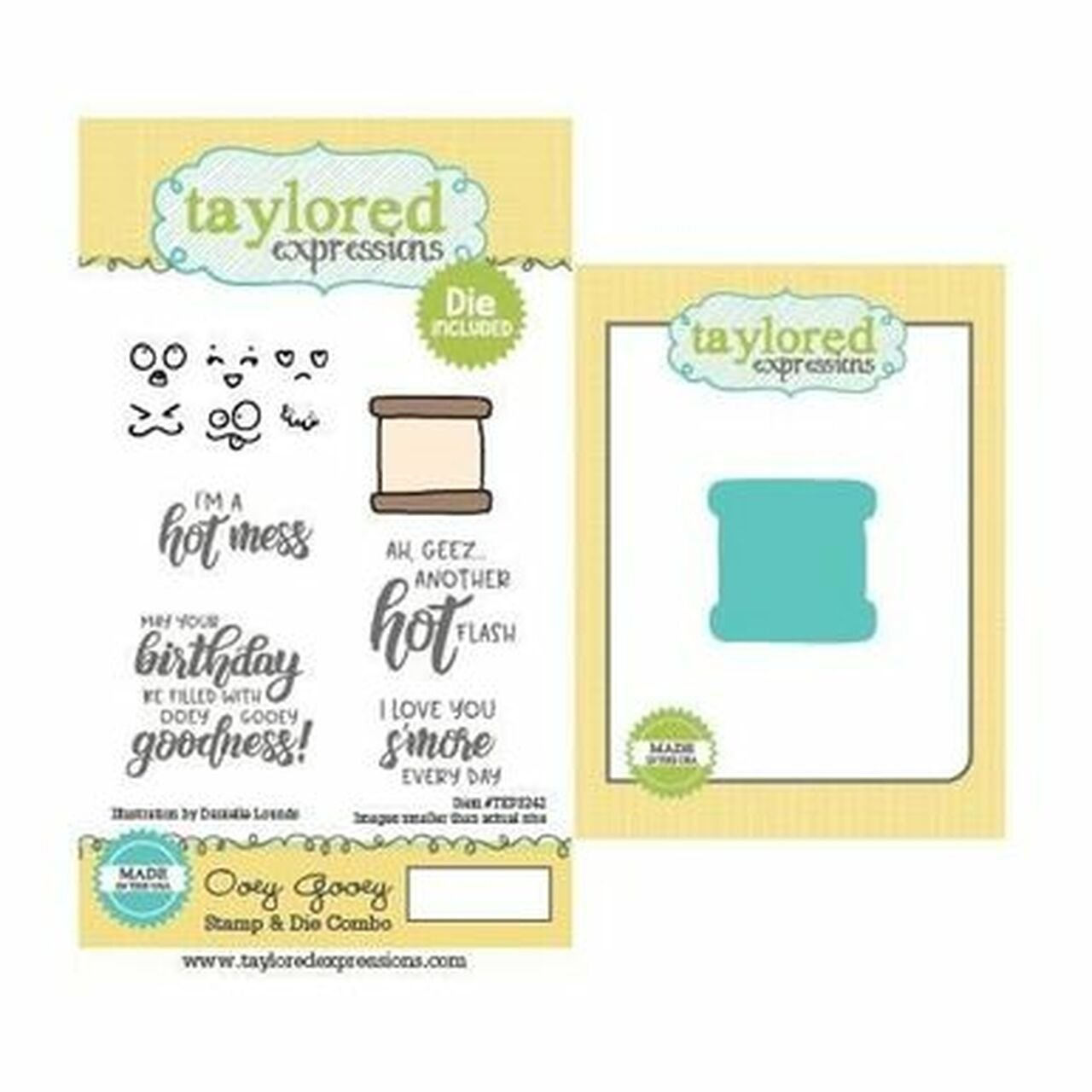 Taylored Expressions-Oey Gooey Stamp & Die Combo Set