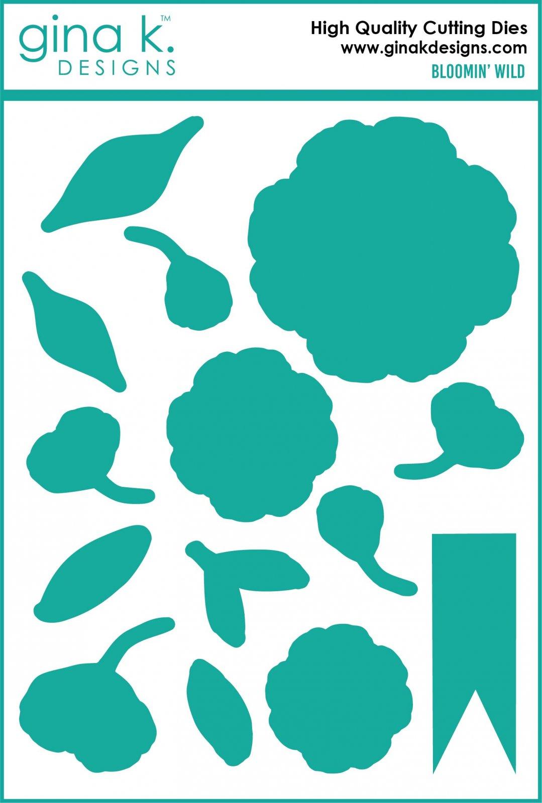 Gina K. Designs- Bloomin' Wild Die Set