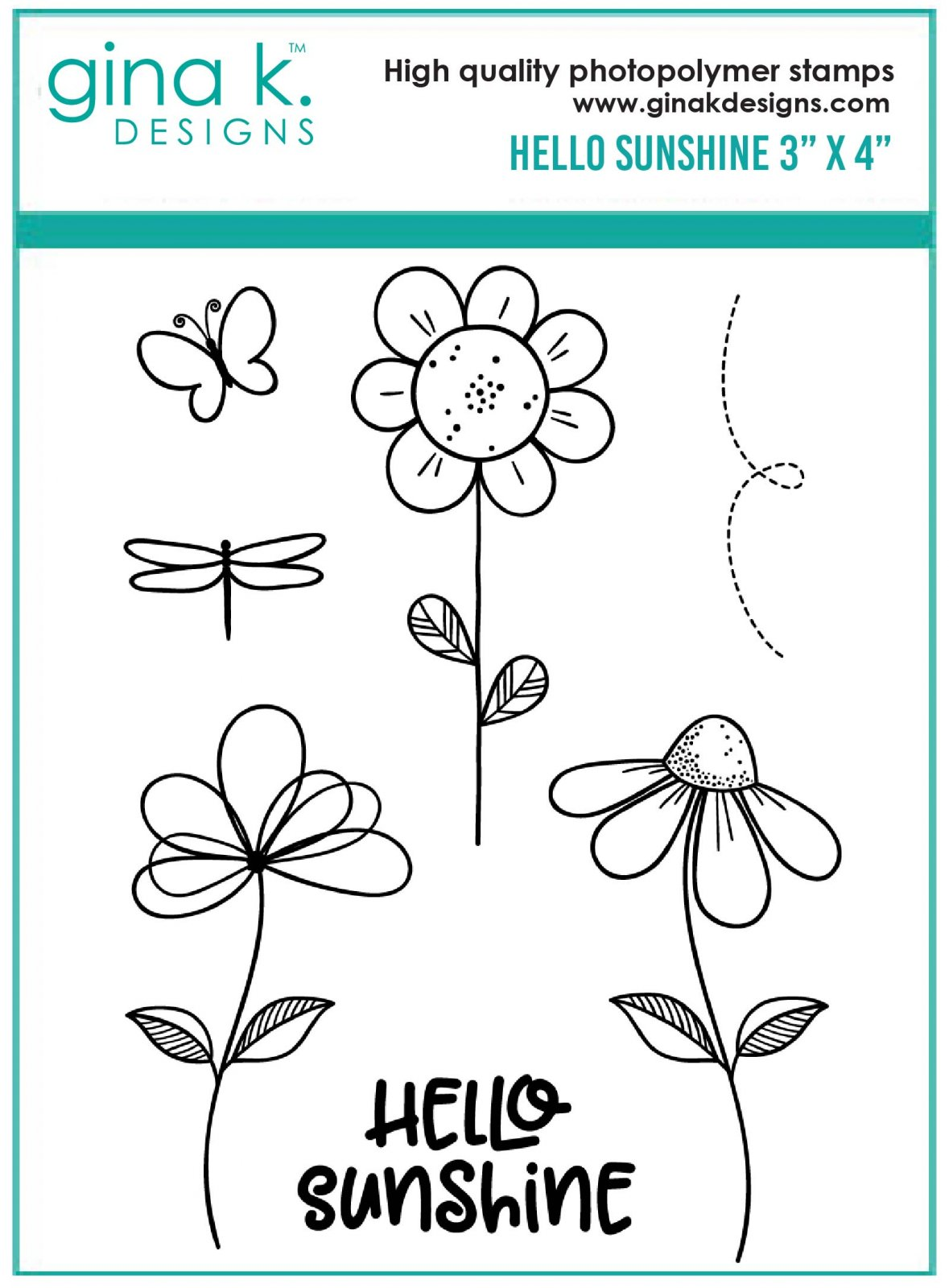 Gina K. Designs- Hello Sunshine Mini Stamp Set