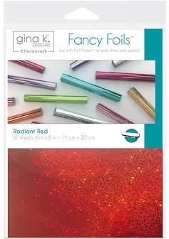 Gina K Fancy Foils Radiant Red
