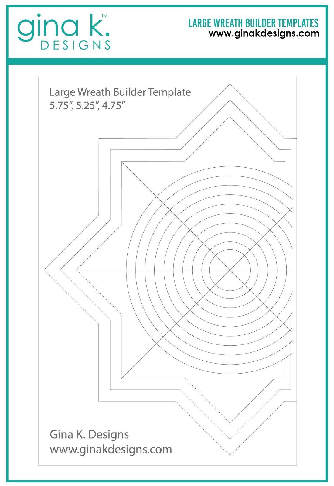 Gina K Designs Large Wreath Builder Template