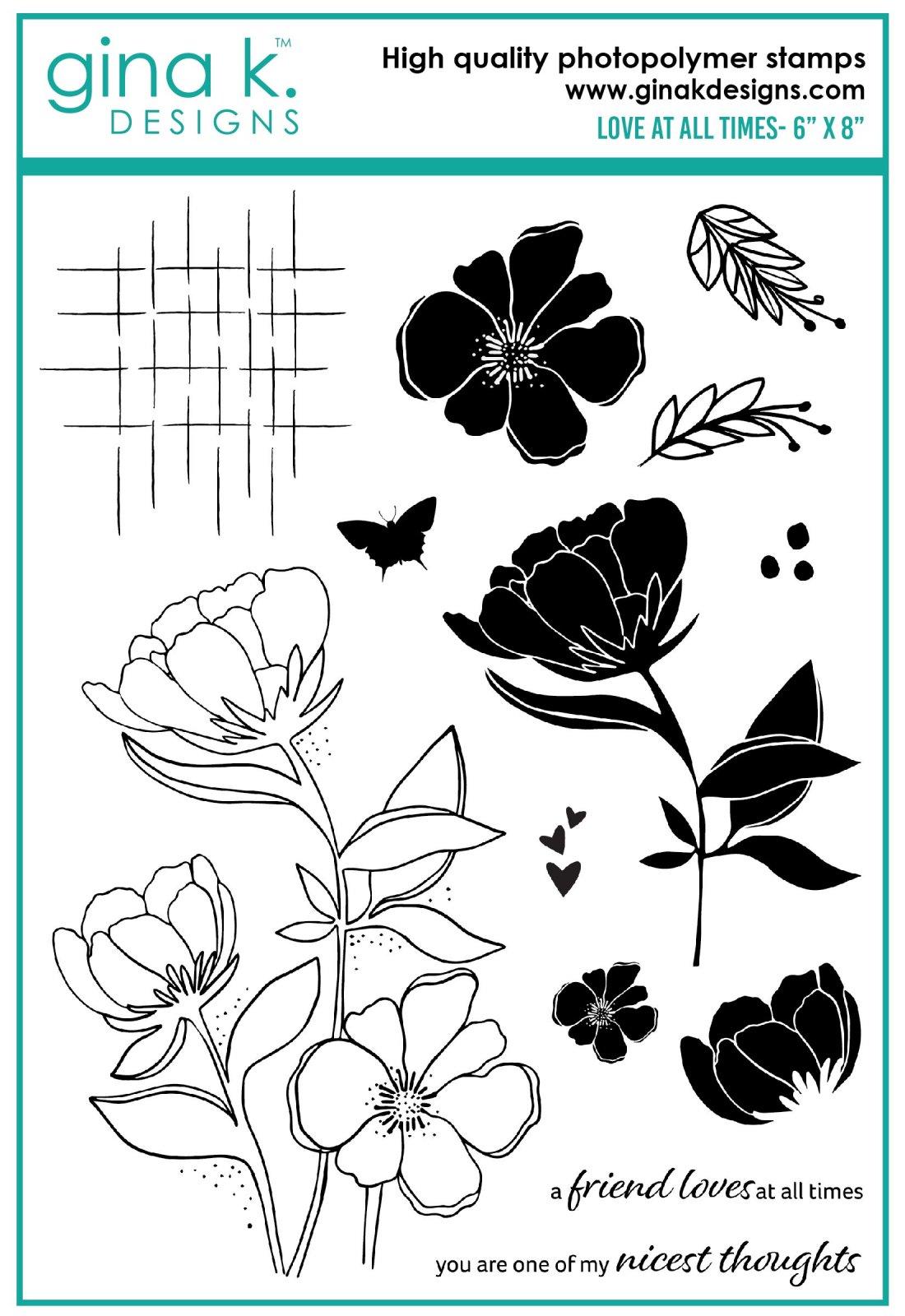 Gina K Designs-Love At All Times stamp set