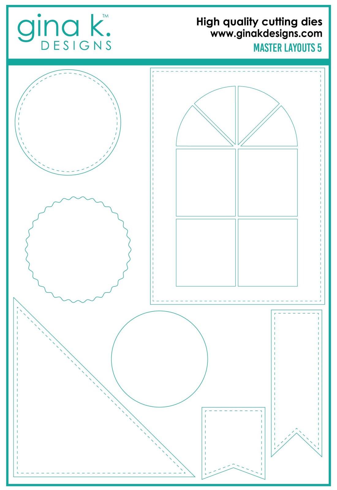 Gina K. Designs- Master Layouts 5 Die Set