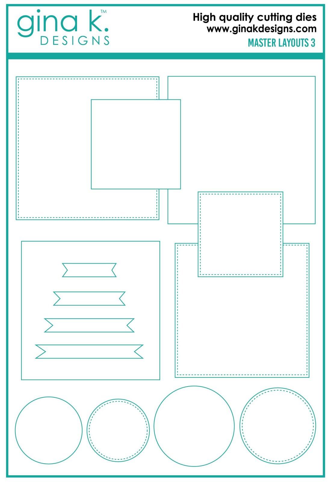 Gina K. Designs- Master Layouts 3 Die Set
