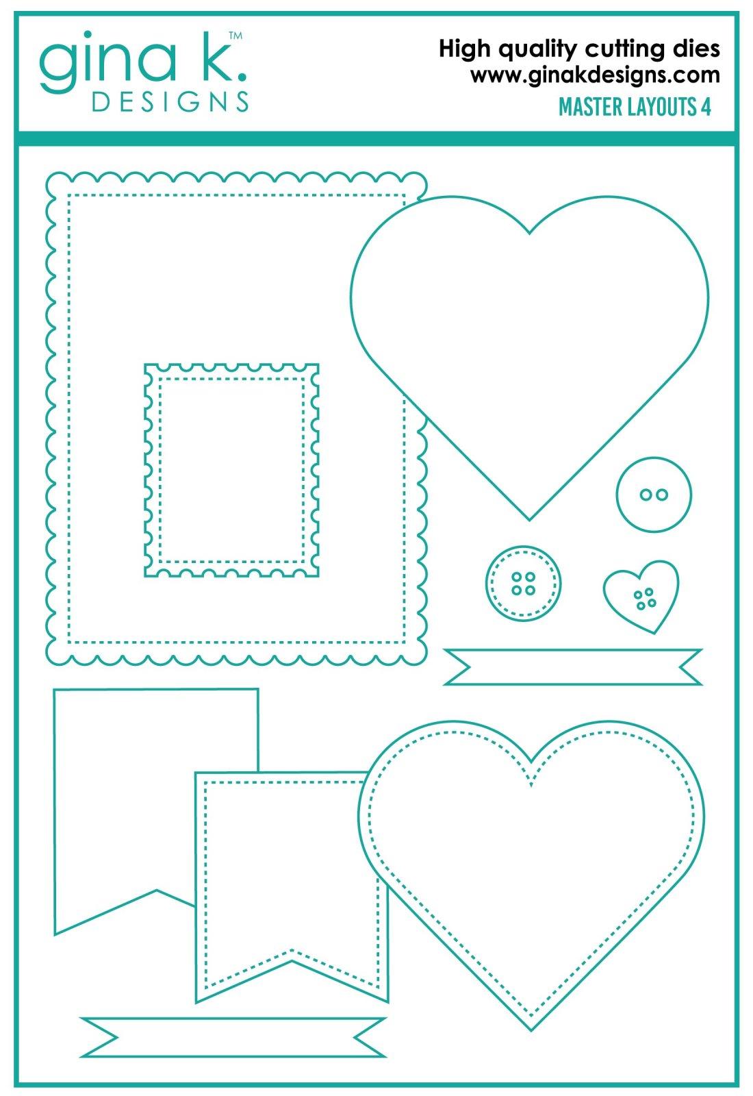 Gina K. Designs- Master Layouts 4 Die Set