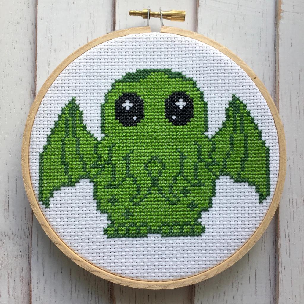 Cute Cthulhu Cross Stitch Kit
