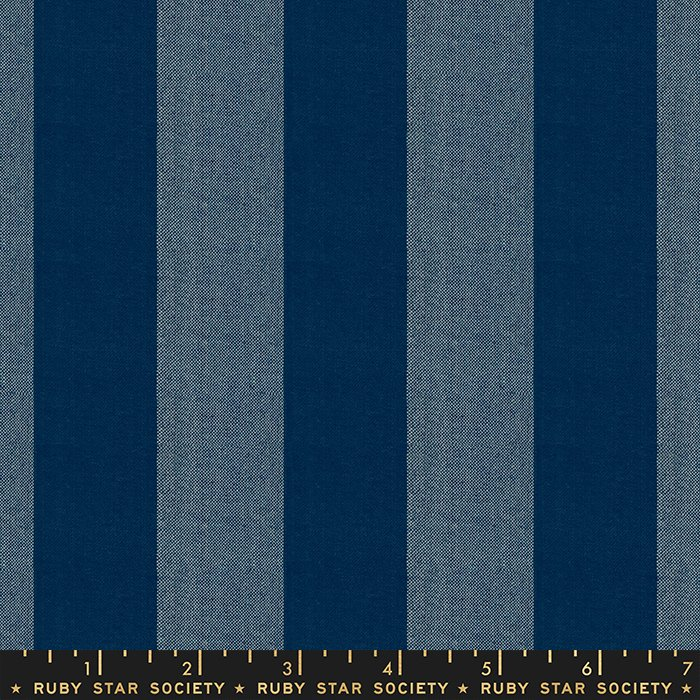 Dress Up in Navy  - PREORDER  - Heirloom Warp & Weft Wovens by Alexia Abegg - Ruby Star Society Fabrics