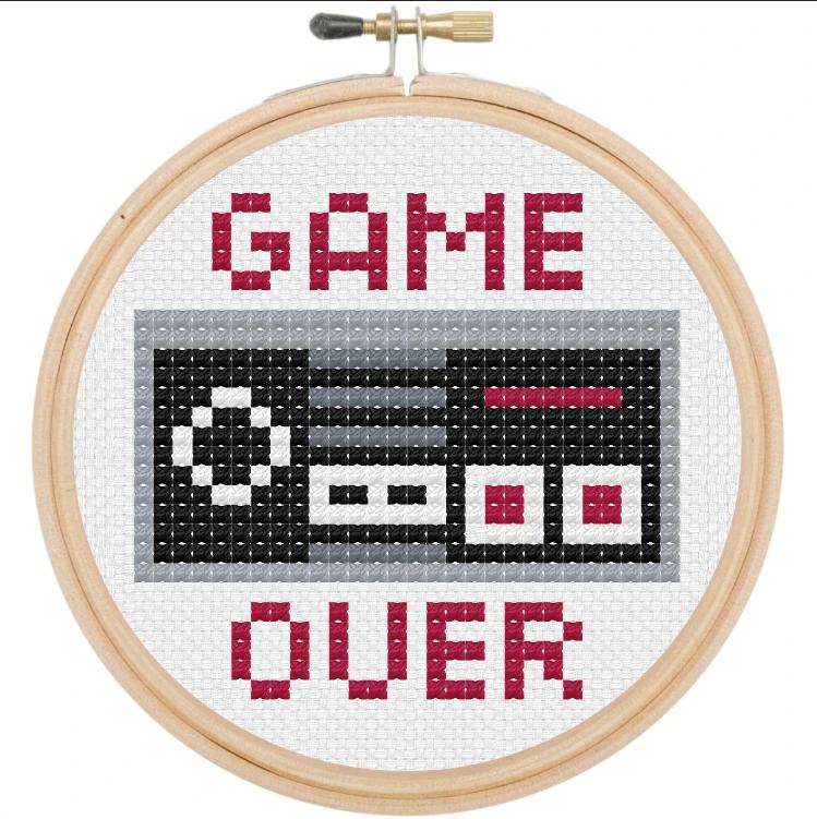 Game Over Cross Stitch Kit