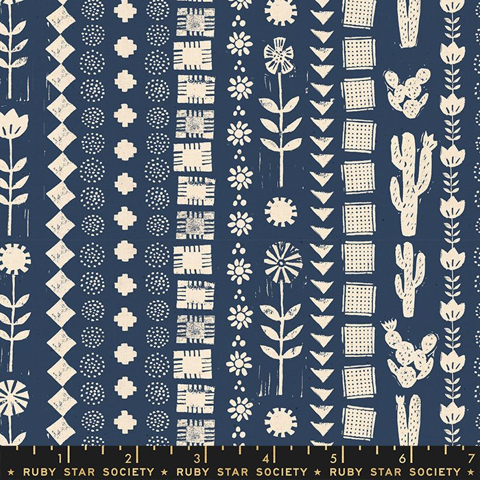 Garden Rows in Bluebell - PREORDER  - Heirloom by Alexia Abegg - Ruby Star Society Fabrics