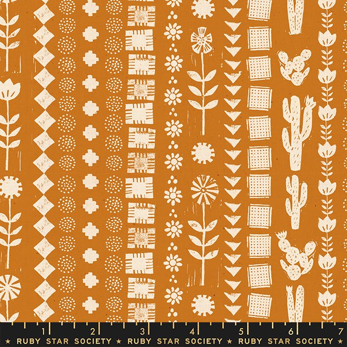 Garden Rows in Earth - PREORDER  - Heirloom by Alexia Abegg - Ruby Star Society Fabrics