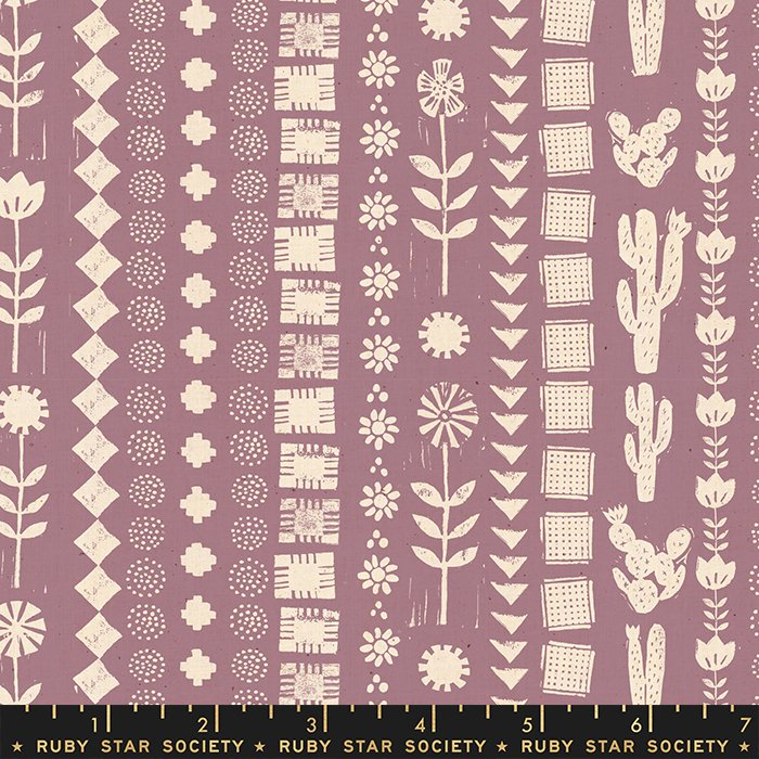 Garden Rows in Lilac - PREORDER  - Heirloom by Alexia Abegg - Ruby Star Society Fabrics