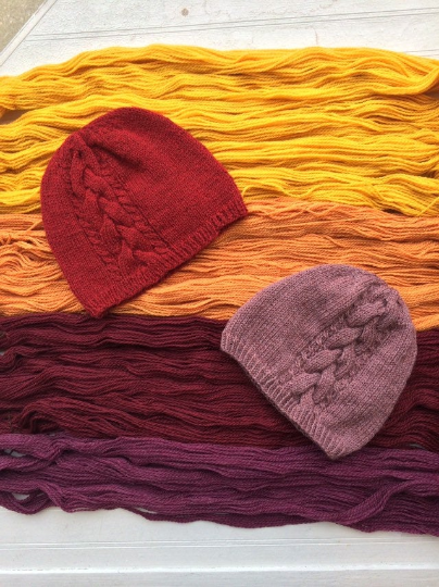 Claremont Cabled Hat Kit - Comes with Pattern and Yarn - Blue Sky Fibers Woolstok Worsted Weight Yarn Fine Highland Wool