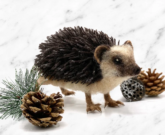 Hugo the Hedgehog Needle Felting Kit