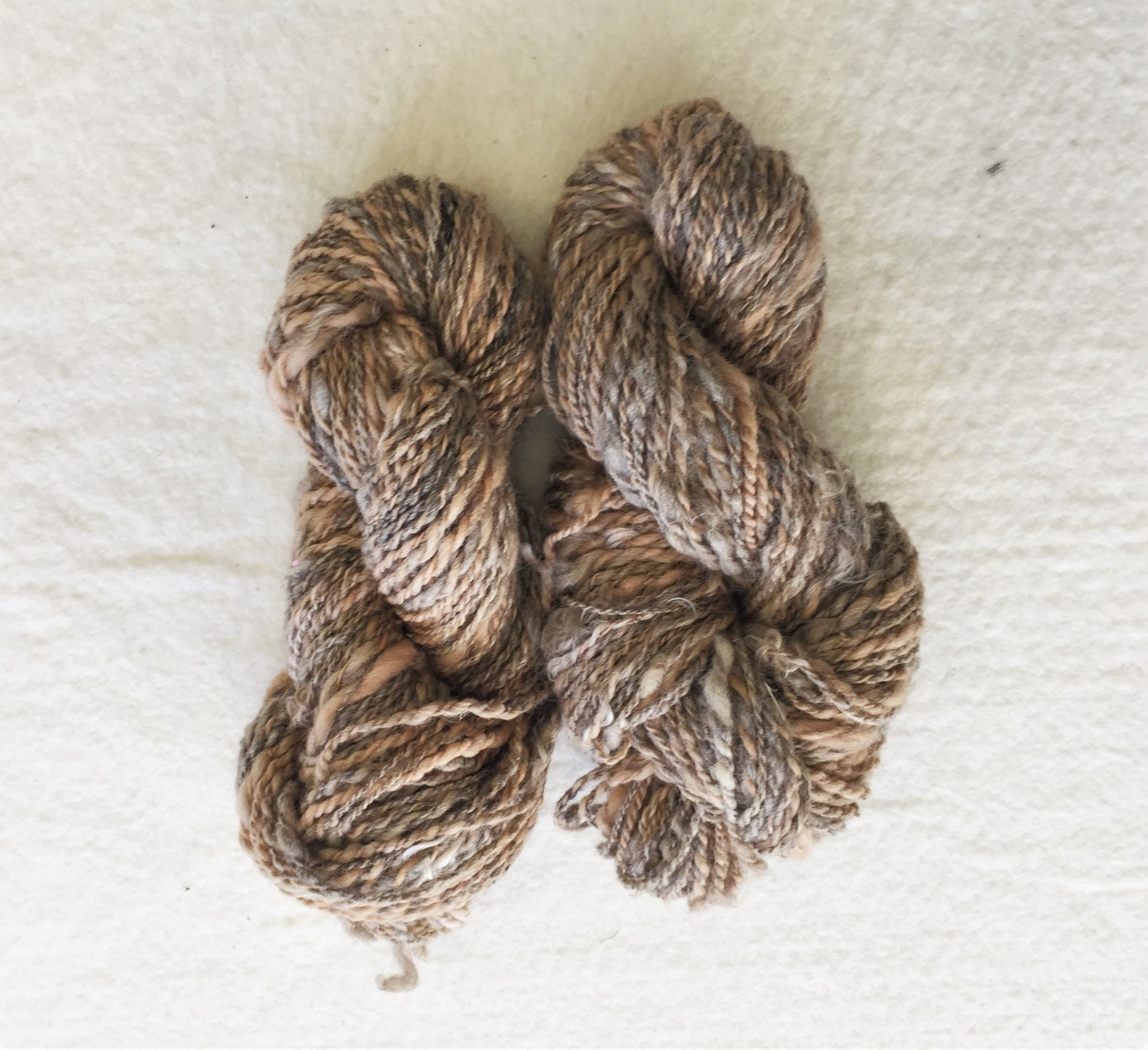 Naturespun - Handspun Yarn - Wool, Mohair, Cotton, and Flax