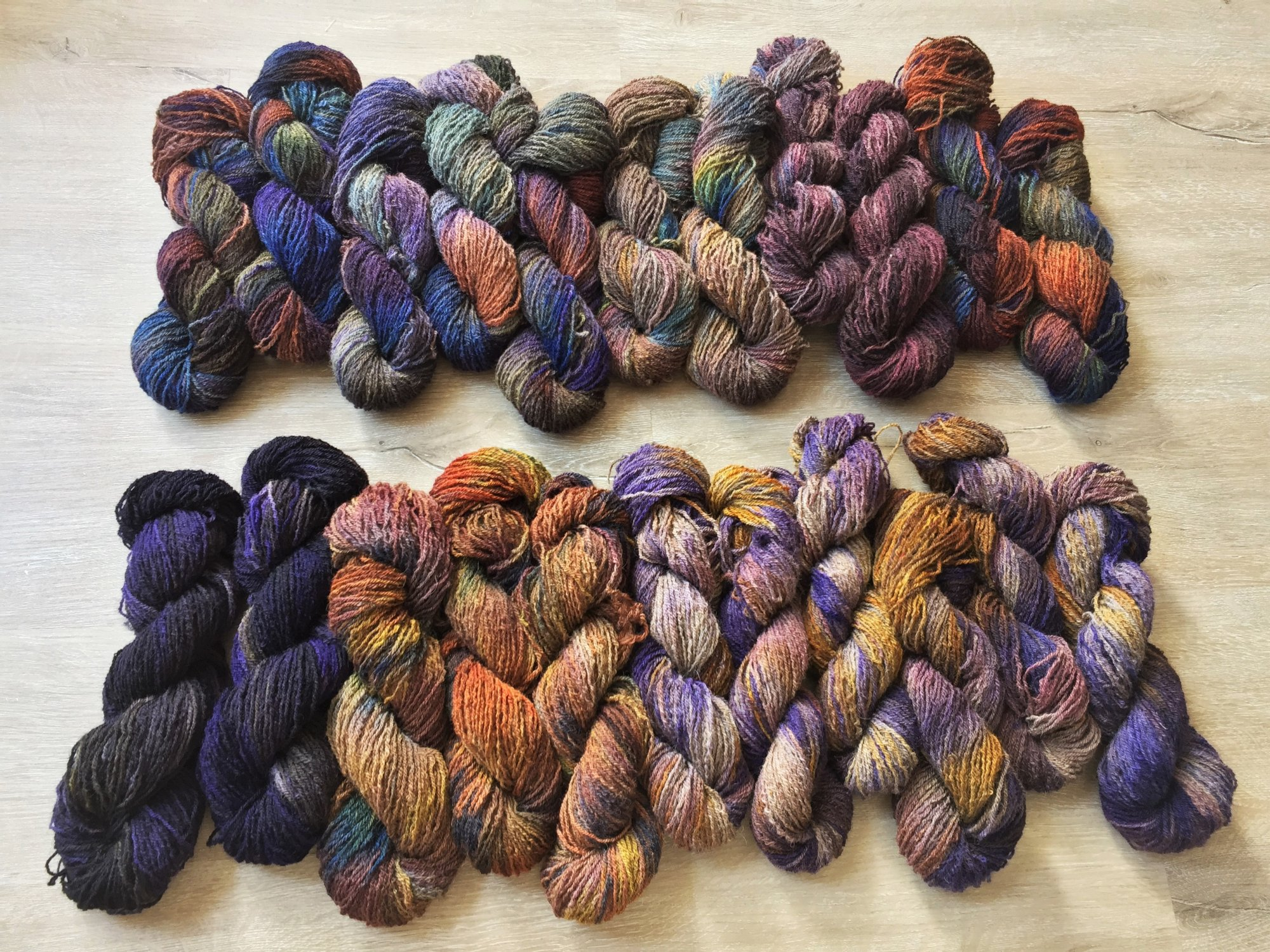 Bonnie Jean - hand dyed Shetland wool