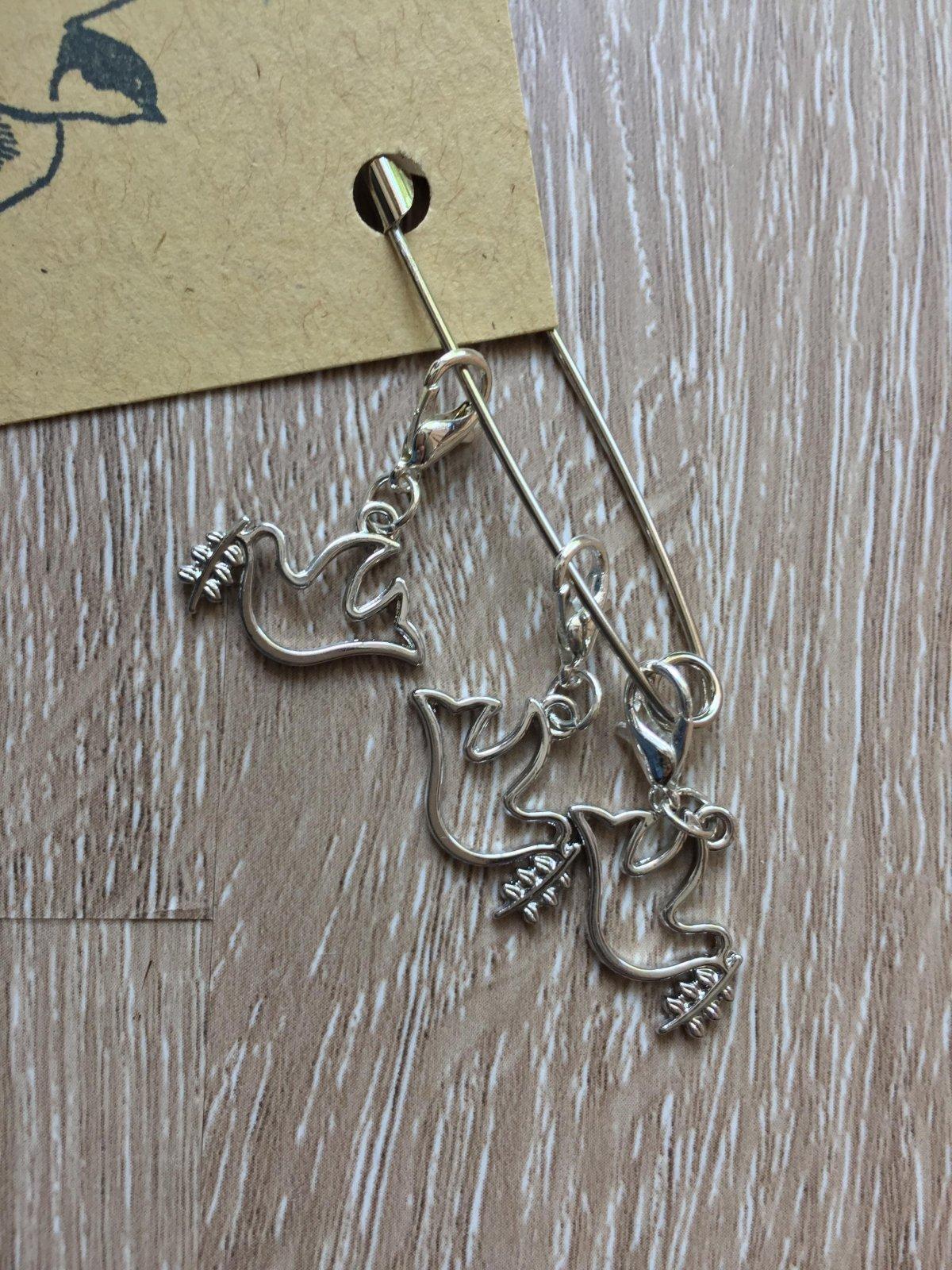 Unicorn Stitch Markers - handmade knitting accessory