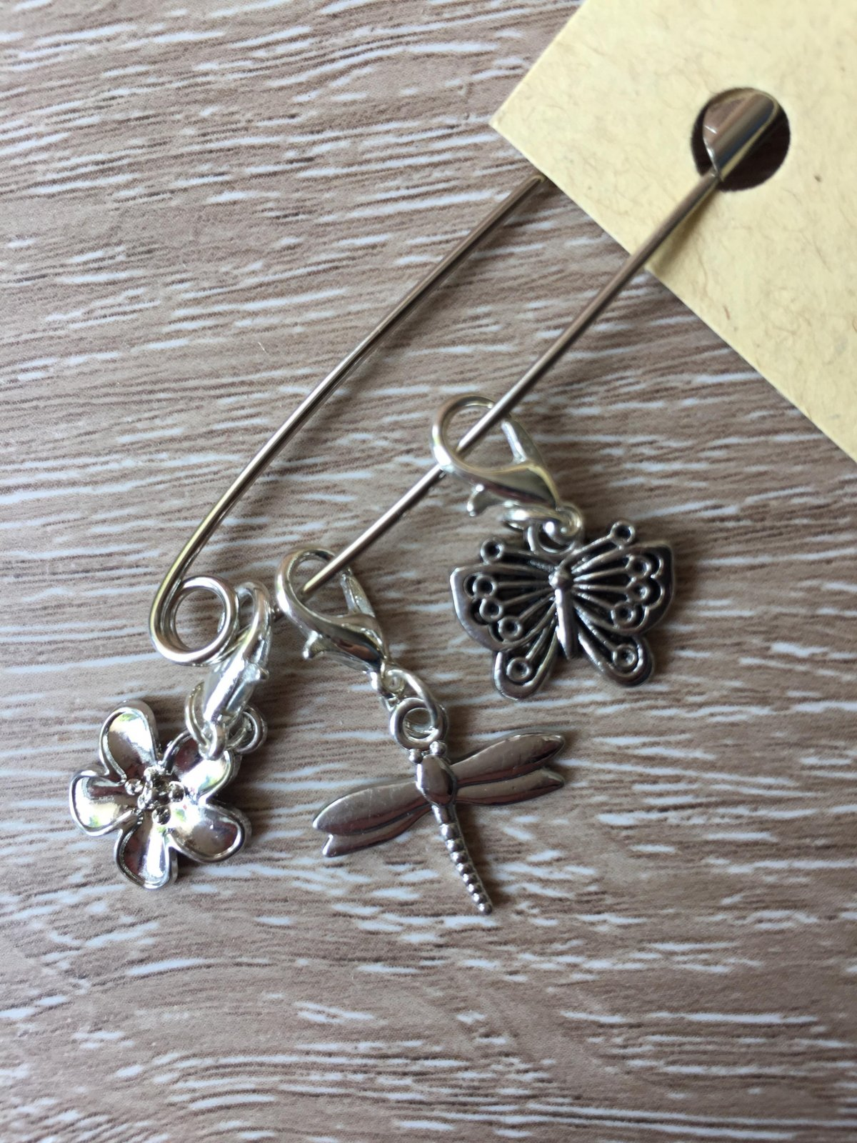 Butterfly and Dragonfly Stitch Markers - handmade knitting accessory