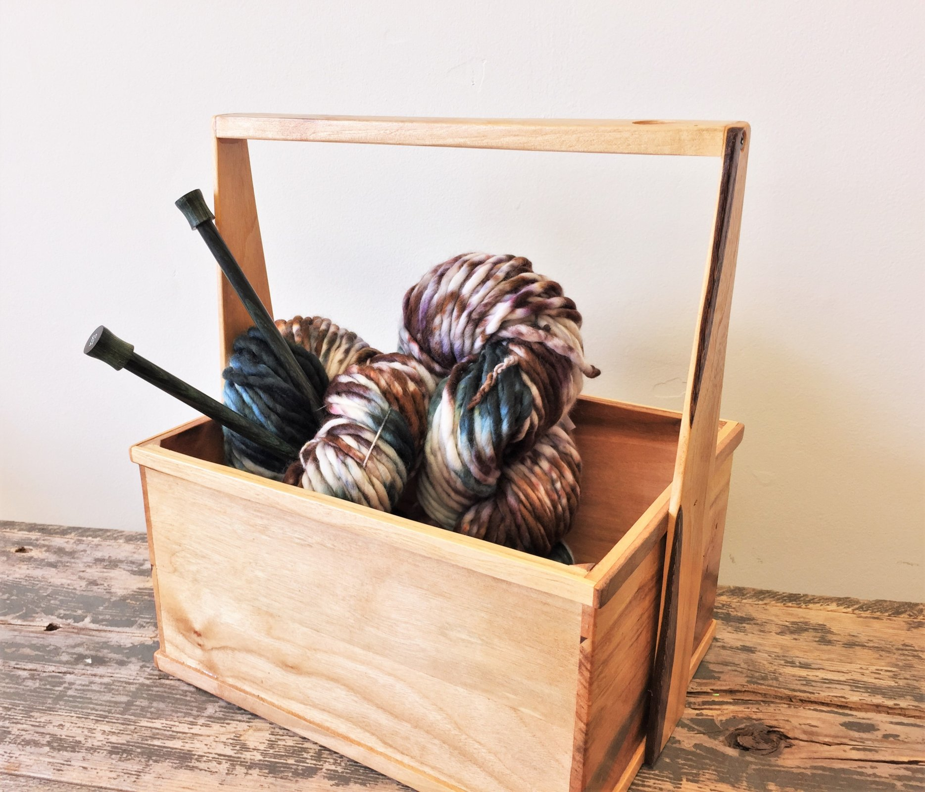 Lucky Penny Yarn Caddy - Handmade Gift for Knitters and Fiber Artists
